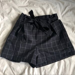 Forever 21 pleated Tie Front Shorts.